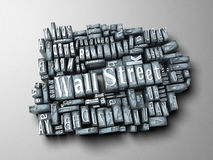 Wall Street print Royalty Free Stock Photography