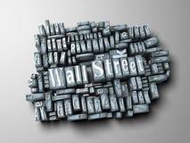 Wall Street print Royalty Free Stock Photography