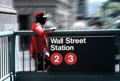 Wall Street proteggente Immagini Stock