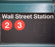 Wall Street road sign New York Stock Exchange Royalty Free Stock Images