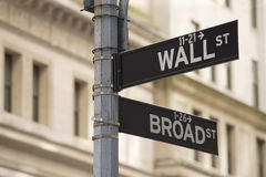 Free Wall Street Sign Royalty Free Stock Image - 20079716