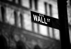 Wall Street sign Royalty Free Stock Images
