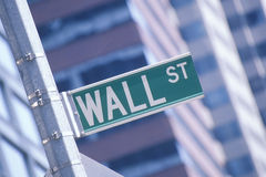 A Wall Street sign Stock Photo