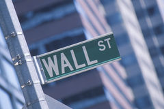 A Wall Street sign Stock Photos
