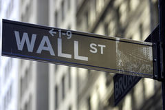 Free Wall Street Sign Royalty Free Stock Photos - 349978