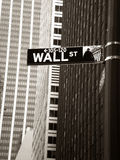Wall Street. Sign in Manhattan, New York, USA Royalty Free Stock Photos