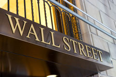 Wall Street Sign, New York Stock Photo