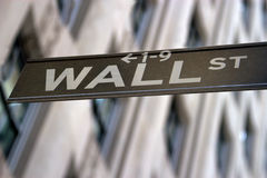 Wall Street Sign, New York Royalty Free Stock Images