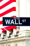 Wall Street Sign, New York Stock Images