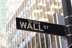 Wall Street Sign, New York royalty free stock photo