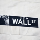 Wall street sign. In New York Royalty Free Stock Photo