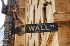 Wall street sign Stock Image