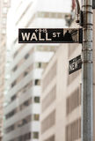 Wall street sign. In New York City Royalty Free Stock Photography
