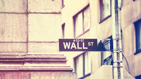 Wall Street sign, New York City, USA. Stock Image