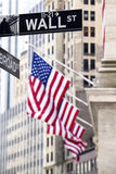 Wall street sign Royalty Free Stock Photography