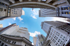 Wall Street skyscrapers Royalty Free Stock Images
