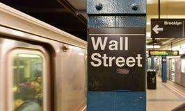 Wall Street stacja metru, Miasto Nowy Jork obraz royalty free