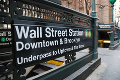 Free Wall Street Station, New York City Royalty Free Stock Photography - 12930817