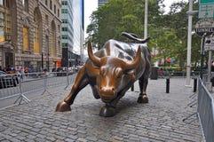Wall Street-Stier, de Stad van Manhattan, New York stock afbeeldingen