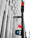 Wall Street: Stop or Go ? Royalty Free Stock Image