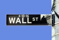 Wall Street streetsign Lizenzfreie Stockfotografie