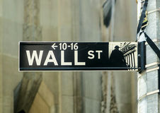 Wall street streetsign Royalty Free Stock Photos