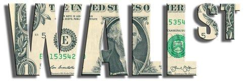 Wall Street Struttura del dollaro americano Immagine Stock Libera da Diritti