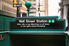 Wall Street Subway Royalty Free Stock Photo