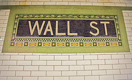 Wall Street Subway Stock Photos