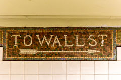Wall Street Subway Station, New York City Stock Photo