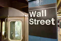 Wall Street Subway Station, New York City Royalty Free Stock Photos