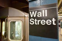 Wall Street Subway Station, New York City Royalty Free Stock Photos