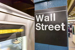 Wall Street Subway Station, New York City Stock Image