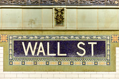 Wall Street Subway Station, New York City Stock Photos
