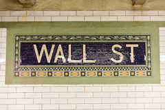 Wall Street Subway Station, New York City Stock Images