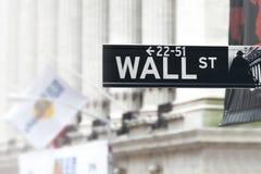 Wall Street unterzeichnen herein niedriger Manhattan New York - USA - vereinigtes Sta Lizenzfreies Stockfoto