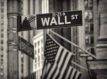 Wall Street w Nowy Jork mieście. fotografia royalty free