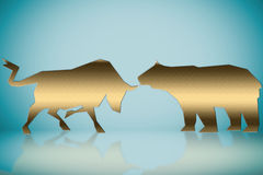 Wall street words in a financial concepts background Stock Image