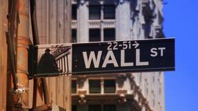 Wall Street y bolsa de acción Fotografía de archivo libre de regalías