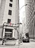 Wall Street y la Bolsa de Nuevo York Foto de archivo