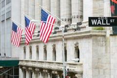 Wall Street Zeichen Lizenzfreie Stockfotos