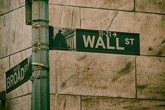 Wall Street Zeichen Lizenzfreies Stockbild