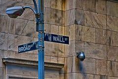 Wall Street Zeichen Stockbilder