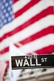 Wall Street znak Obrazy Royalty Free