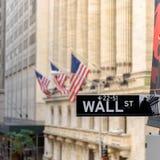 Wall Street znak na Wall Street w Nowy Jork, usa Obraz Royalty Free