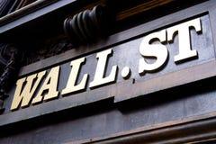 Wall Street Znak, Nowy Jork zdjęcie stock