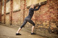 Wall stretch Stock Photos