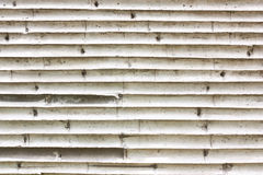 Wall for Striped of bamboo trunk Royalty Free Stock Photos