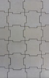 Wall structure of jigsaw pieces Royalty Free Stock Photo