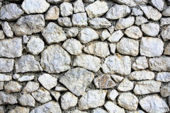 Wall structure texture made of stones Stock Photography